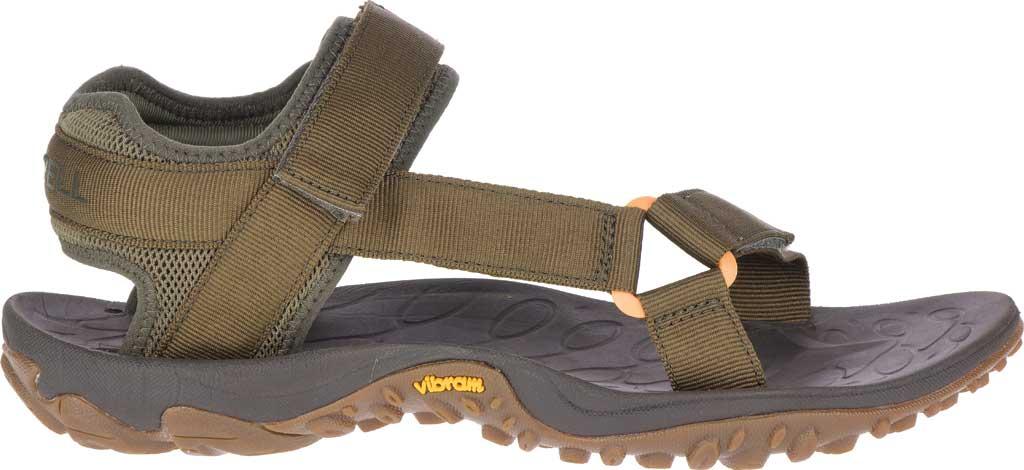 Men's Merrell Kahuna Web Active Sandal, Olive Nylon Webbing/Mesh, large, image 2