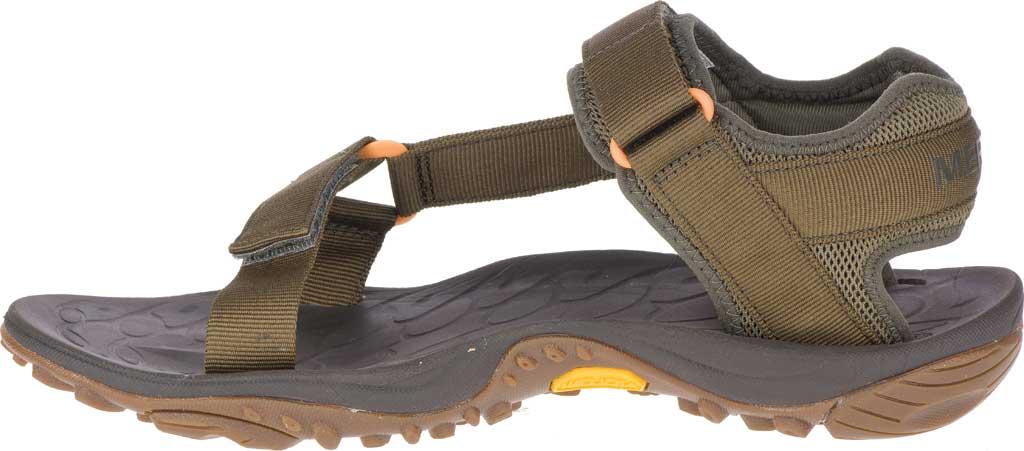 Men's Merrell Kahuna Web Active Sandal, Olive Nylon Webbing/Mesh, large, image 3