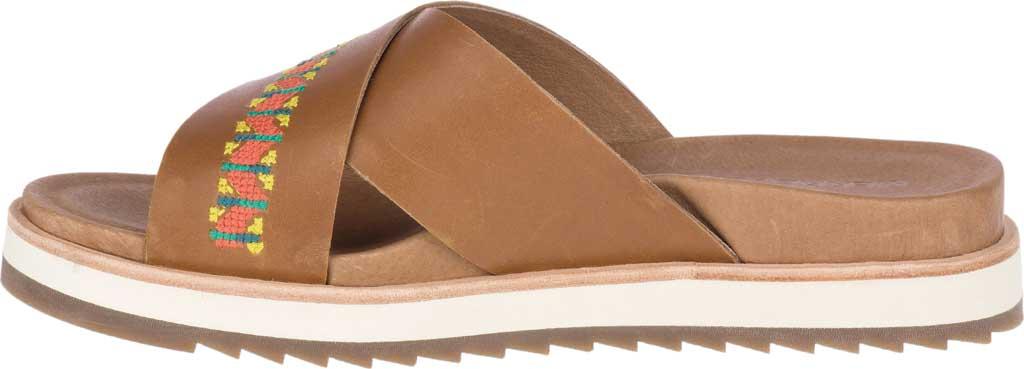 Women's Merrell Juno Slide, Tobacco Full Grain Leather, large, image 3