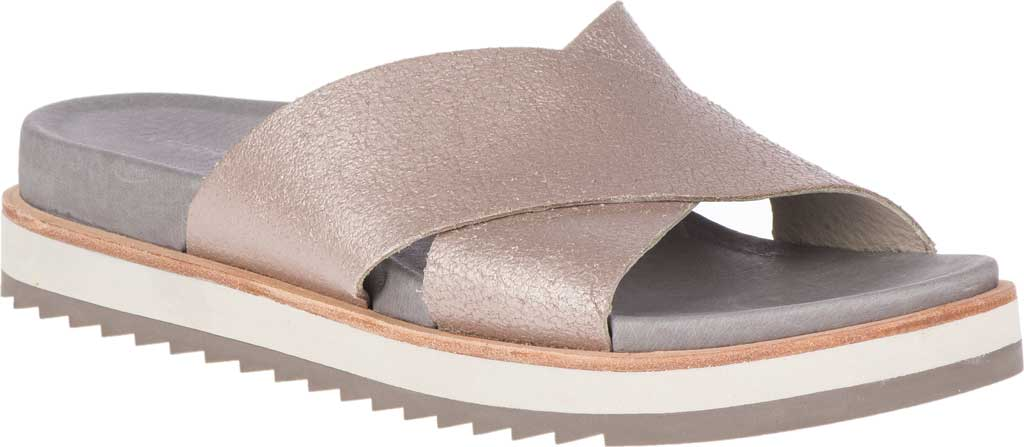 Women's Merrell Juno Slide, Metallic Full Grain Leather, large, image 1