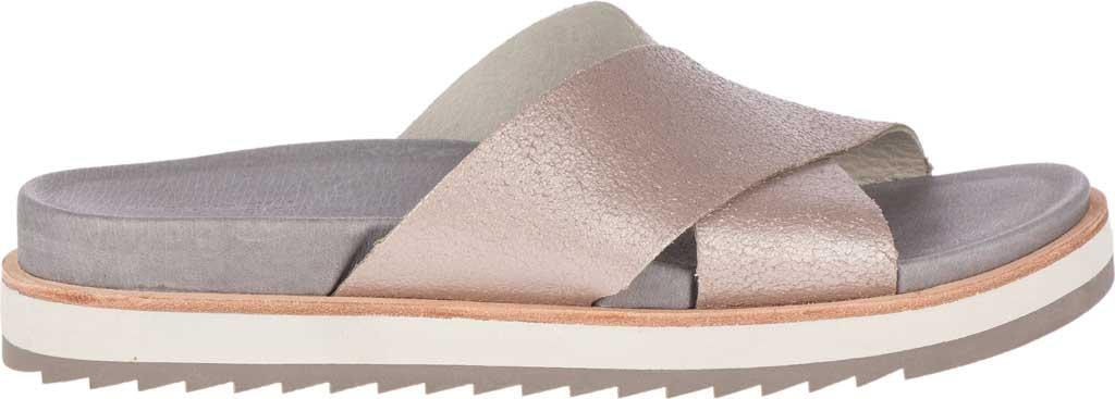 Women's Merrell Juno Slide, Metallic Full Grain Leather, large, image 2