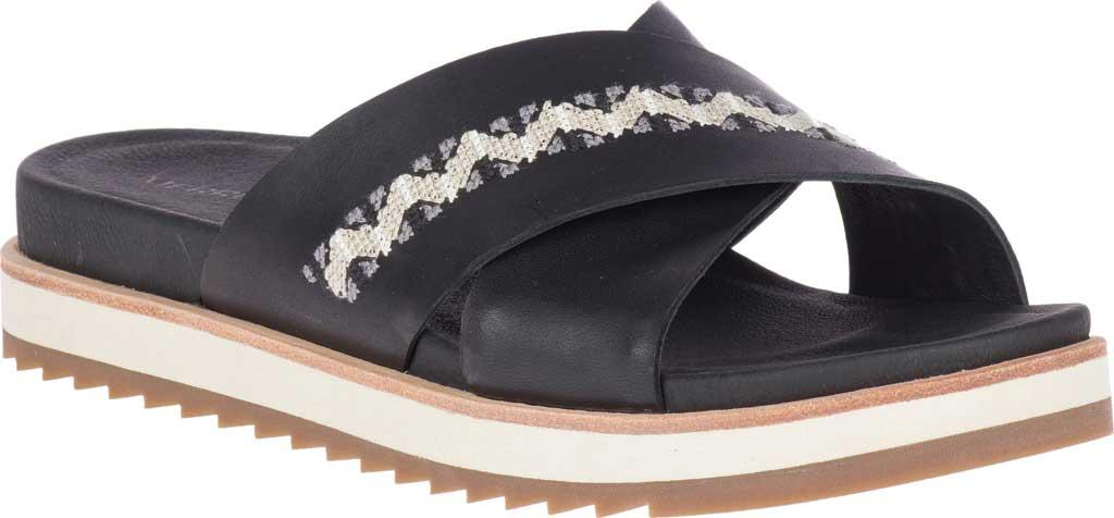 Women's Merrell Juno Slide, Black Full Grain Leather, large, image 1