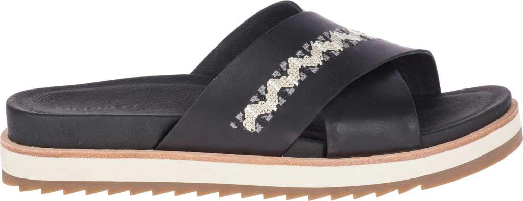 Women's Merrell Juno Slide, Black Full Grain Leather, large, image 2