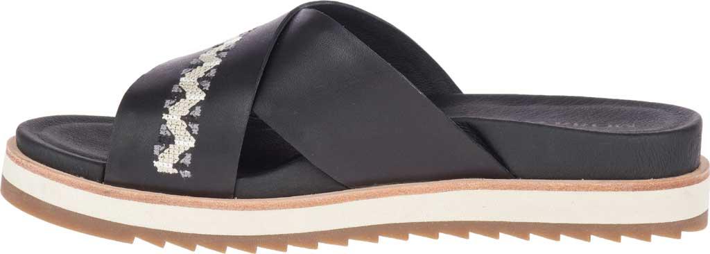 Women's Merrell Juno Slide, Black Full Grain Leather, large, image 3