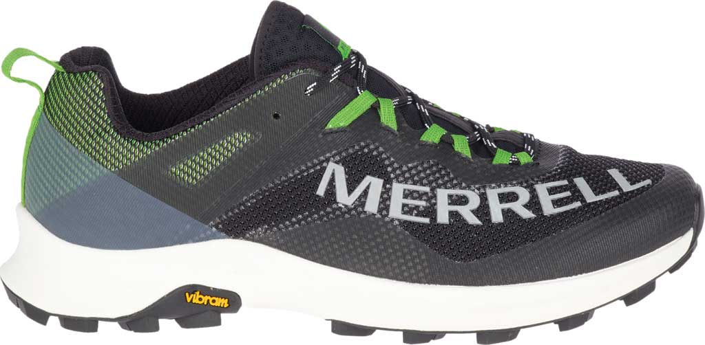 Men's Merrell MTL Long Sky Trail Shoe, Black/Lime Mesh/TPU, large, image 2