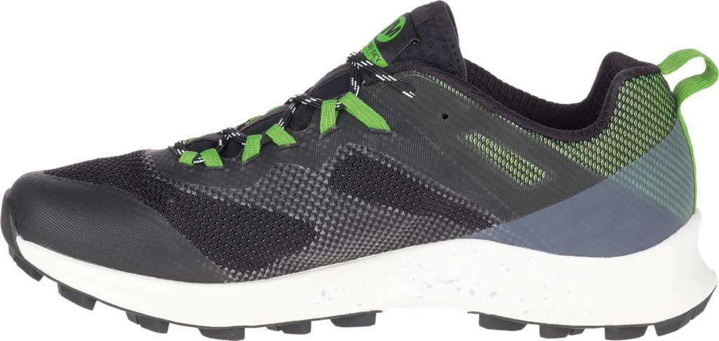Men's Merrell MTL Long Sky Trail Shoe, Black/Lime Mesh/TPU, large, image 3