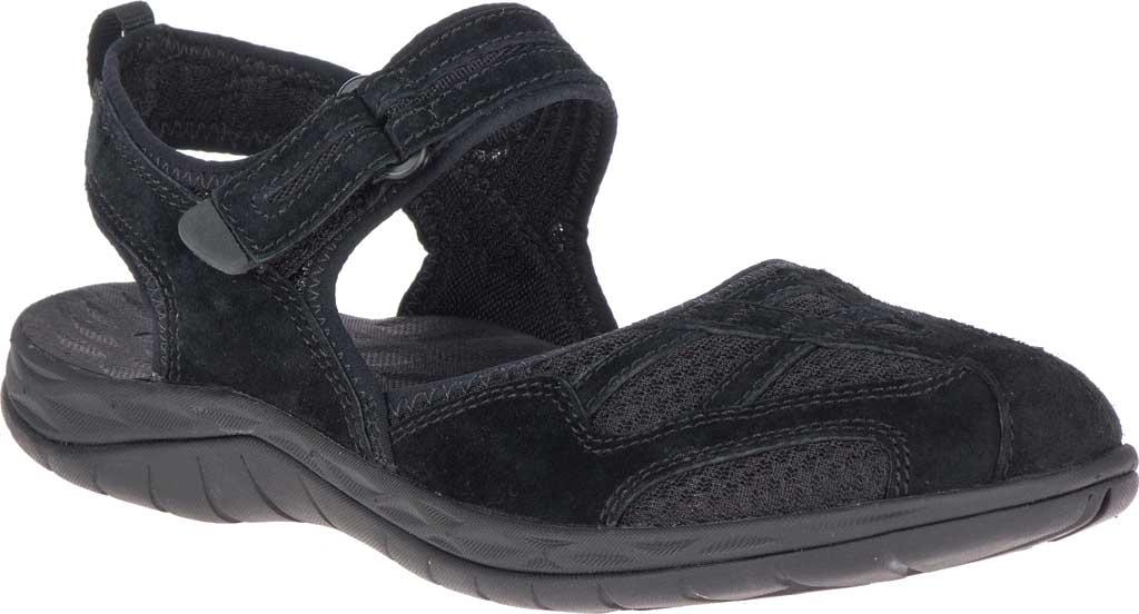 Women's Merrell Siren 2 Wrap Closed Toe Hiking Sandal, Black Suede/Mesh, large, image 1