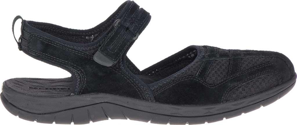Women's Merrell Siren 2 Wrap Closed Toe Hiking Sandal, Black Suede/Mesh, large, image 2
