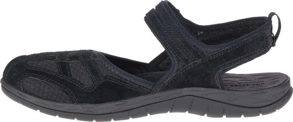 Women's Merrell Siren 2 Wrap Closed Toe Hiking Sandal, Black Suede/Mesh, large, image 3