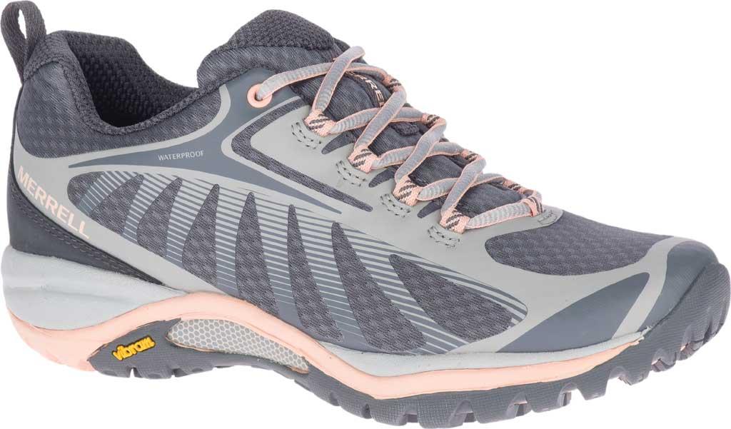 Women's Merrell Siren Edge 3 Waterproof Hiking Shoe, Paloma/Peach Waterproof Mesh/3D Printed TPU, large, image 1