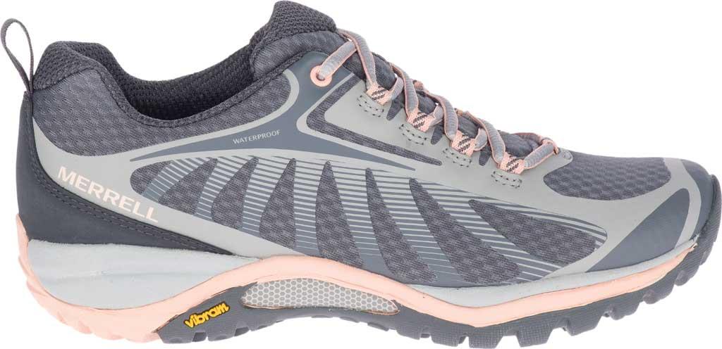 Women's Merrell Siren Edge 3 Waterproof Hiking Shoe, Paloma/Peach Waterproof Mesh/3D Printed TPU, large, image 2