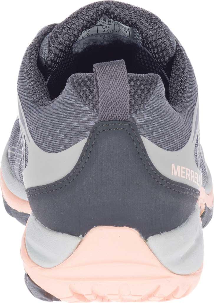 Women's Merrell Siren Edge 3 Waterproof Hiking Shoe, Paloma/Peach Waterproof Mesh/3D Printed TPU, large, image 4