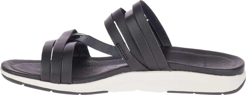 Women's Merrell Kalari Shaw Slide, Black Full Grain Leather, large, image 3