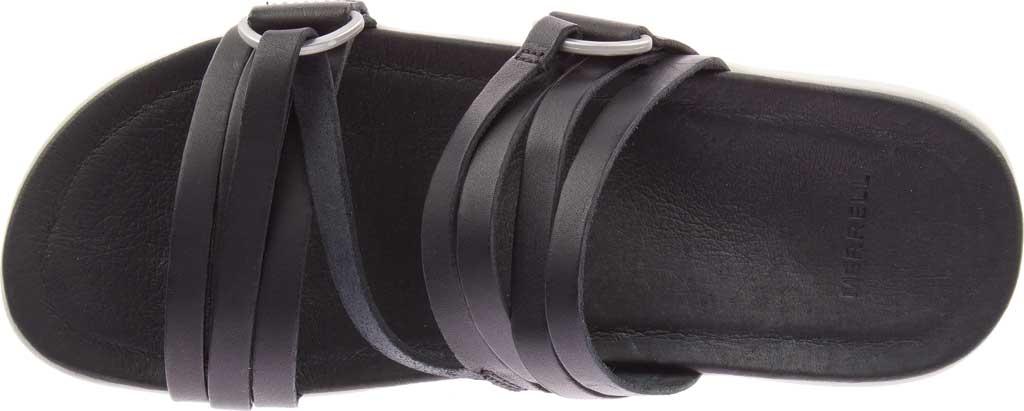 Women's Merrell Kalari Shaw Slide, Black Full Grain Leather, large, image 5
