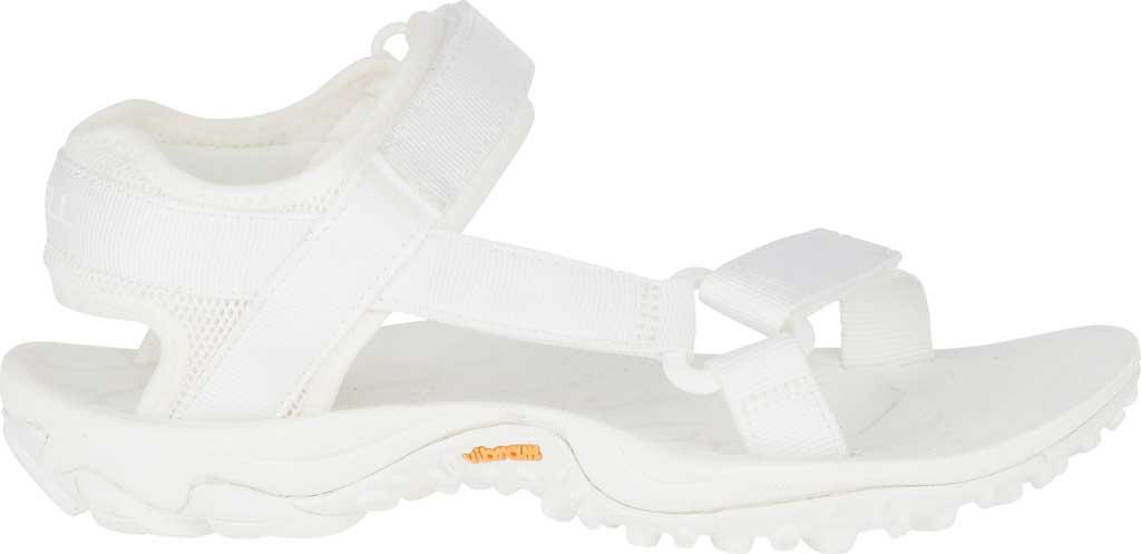 Women's Merrell Kahuna Web Active Sandal, White Nylon Webbing/Mesh, large, image 2