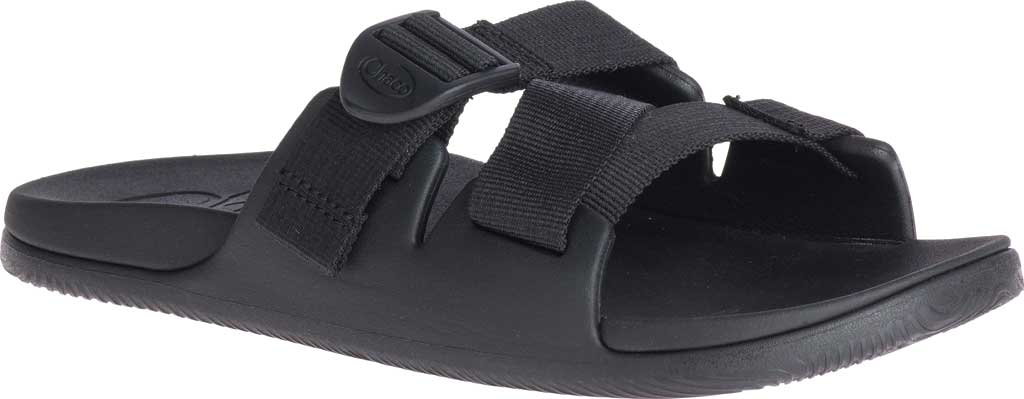 Women's Chaco Chillos Vegan Slide, Black, large, image 1