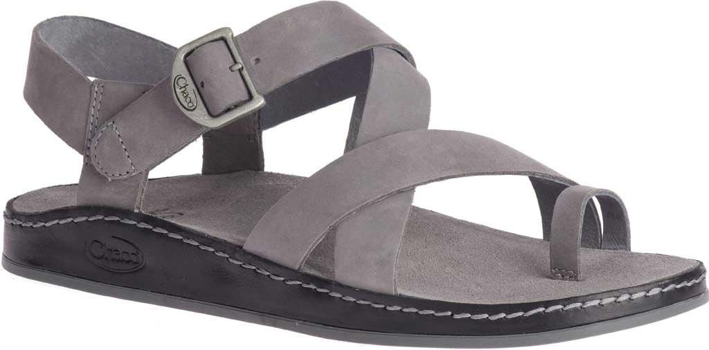 Women's Chaco Wayfarer Toe Loop Sandal, Grey Full Grain Leather, large, image 1