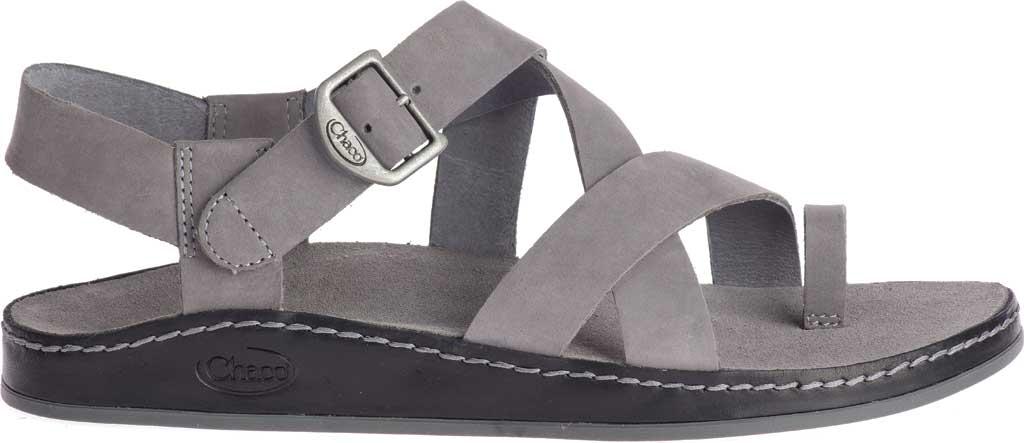 Women's Chaco Wayfarer Toe Loop Sandal, Grey Full Grain Leather, large, image 2
