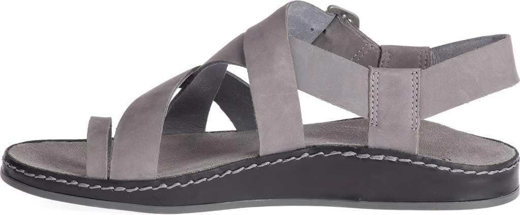 Women's Chaco Wayfarer Toe Loop Sandal, Grey Full Grain Leather, large, image 3