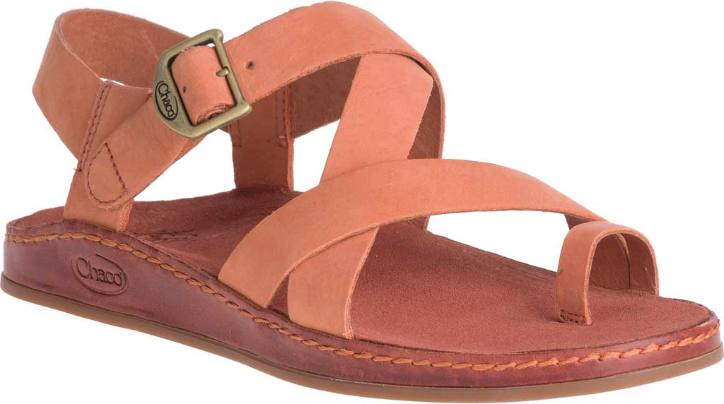Women's Chaco Wayfarer Toe Loop Sandal, Carnelian Full Grain Leather, large, image 1