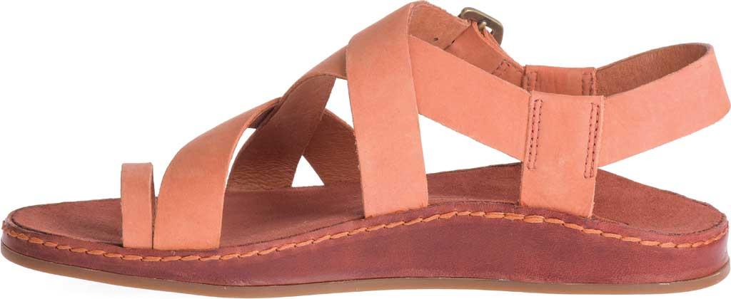 Women's Chaco Wayfarer Toe Loop Sandal, Carnelian Full Grain Leather, large, image 3