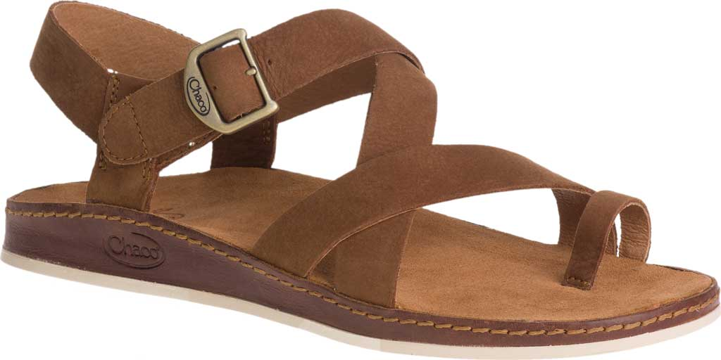 Women's Chaco Wayfarer Toe Loop Sandal, Toffee Full Grain Leather, large, image 1