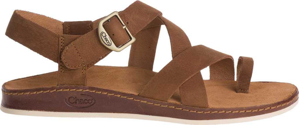 Women's Chaco Wayfarer Toe Loop Sandal, Toffee Full Grain Leather, large, image 2