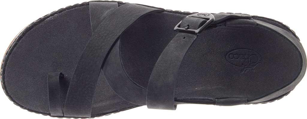 Women's Chaco Wayfarer Toe Loop Sandal, Black Full Grain Leather, large, image 5
