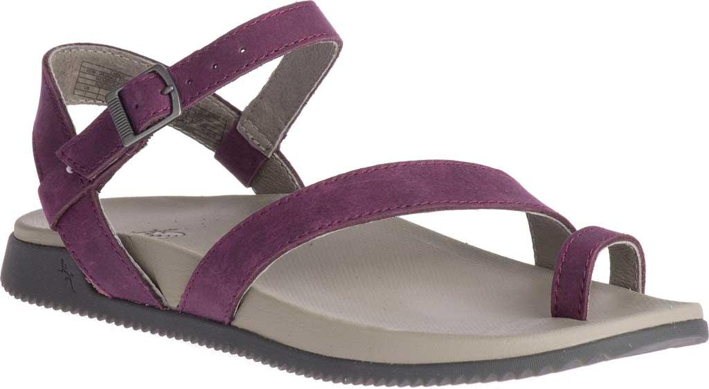 Women's Chaco Tulip Toe Loop Sandal, Fig Full Grain Leather, large, image 1