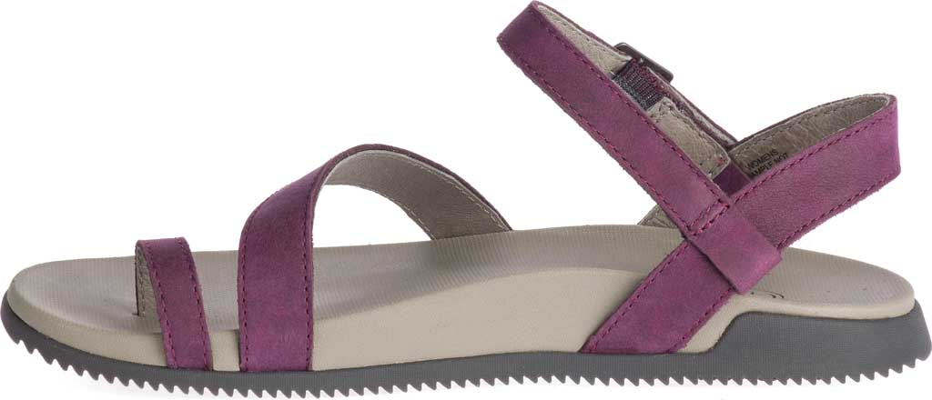 Women's Chaco Tulip Toe Loop Sandal, Fig Full Grain Leather, large, image 3