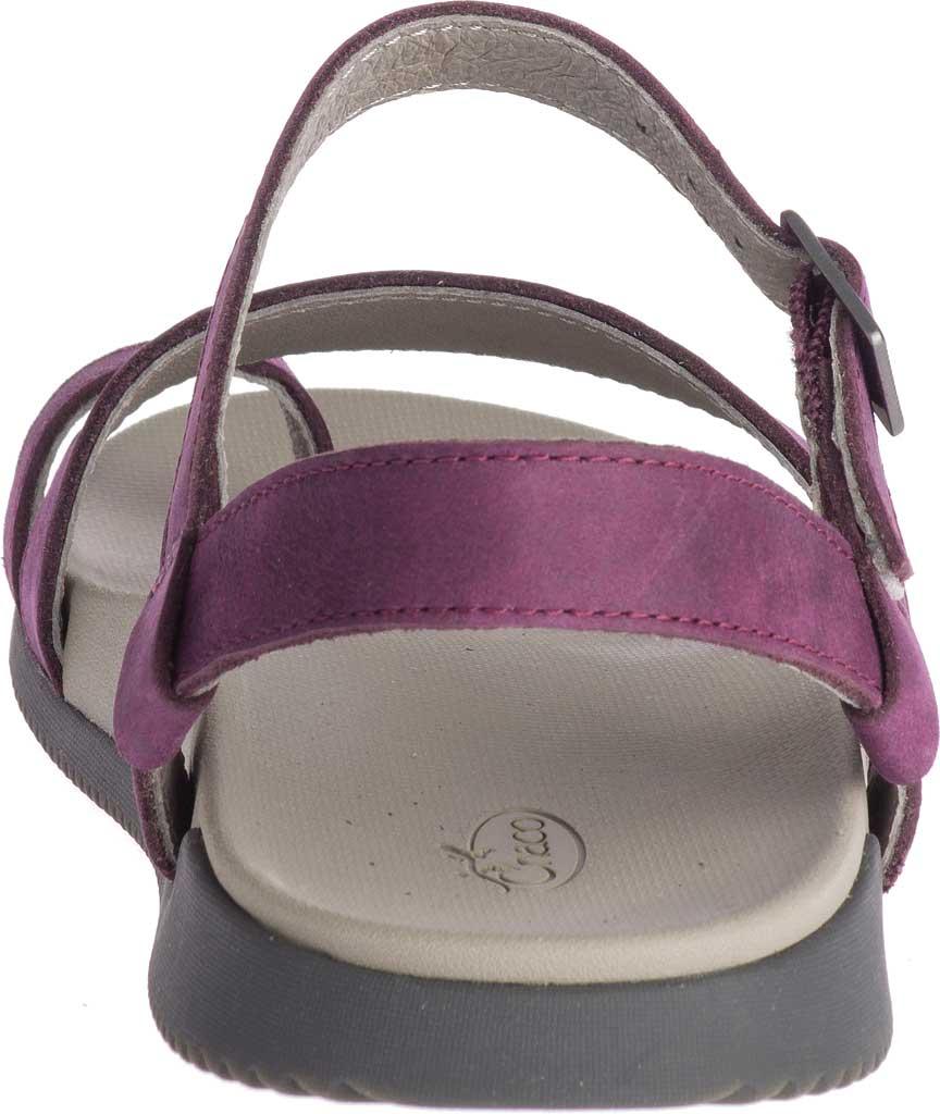 Women's Chaco Tulip Toe Loop Sandal, Fig Full Grain Leather, large, image 4