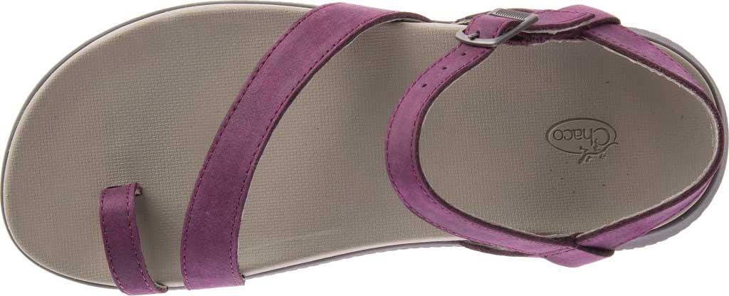 Women's Chaco Tulip Toe Loop Sandal, Fig Full Grain Leather, large, image 5