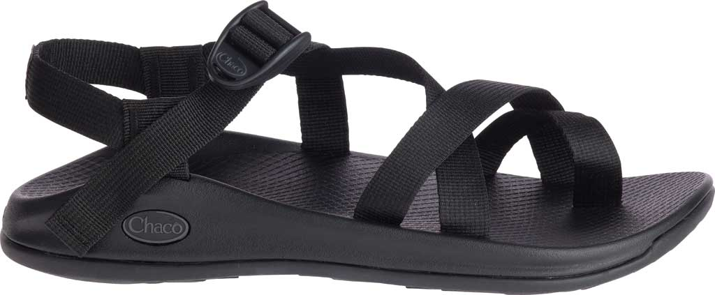 Men's Chaco Z/Boulder 2 Active Toe Loop Sandal, Solid Black, large, image 1