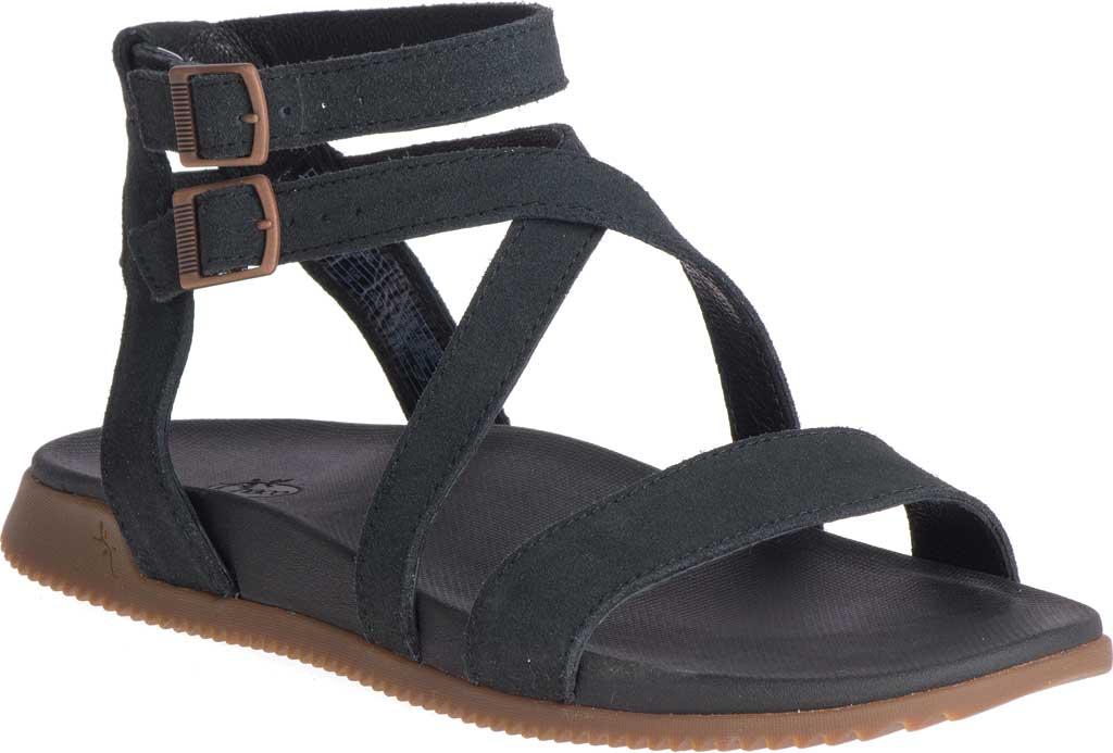 Women's Chaco Rose Ankle Strap Sandal, Black Full Grain Leather, large, image 1