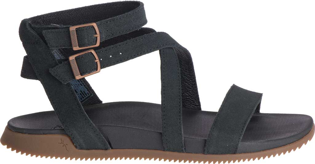 Women's Chaco Rose Ankle Strap Sandal, Black Full Grain Leather, large, image 2