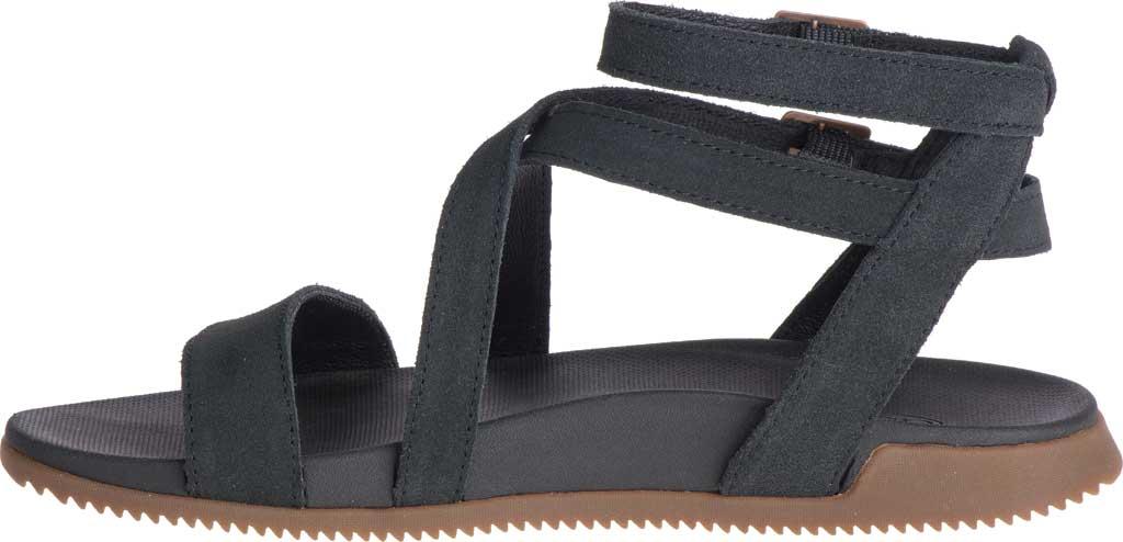 Women's Chaco Rose Ankle Strap Sandal, Black Full Grain Leather, large, image 3