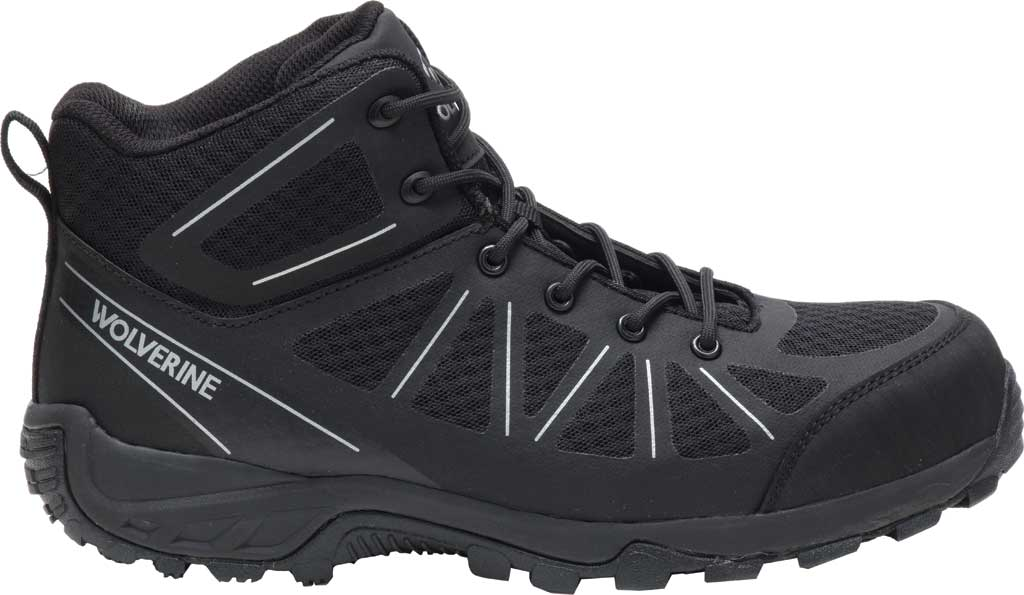 Men's Wolverine Amherst II Mid Composite Toe Work Boot, Black Mesh/TPU, large, image 2
