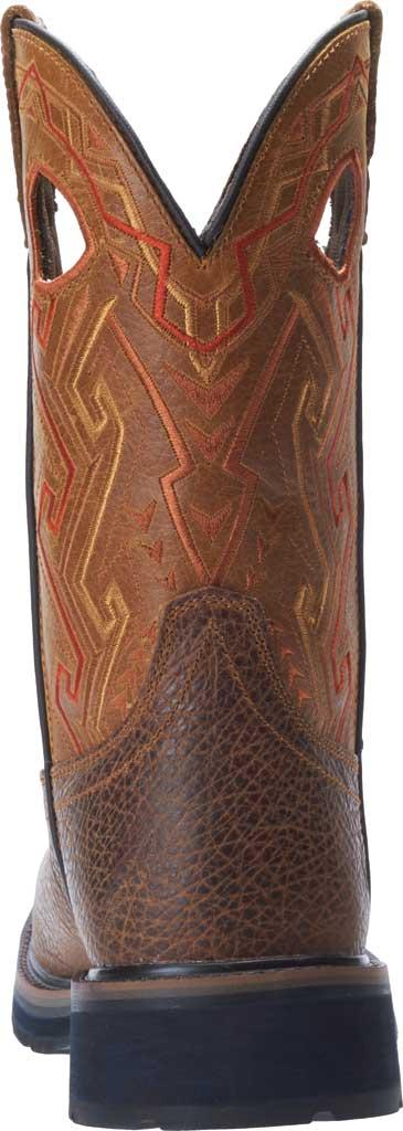 Men's Wolverine Rancher Aztec Cowboy Work Boot, Tan Full Grain Leather, large, image 4