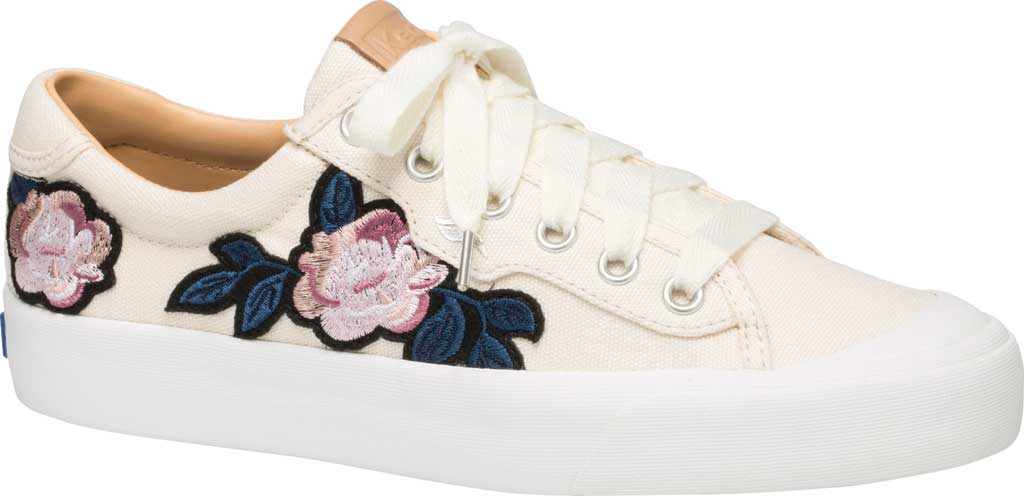 Women's Keds Crew Kick 75 Applique Sneaker, Natural Canvas, large, image 1