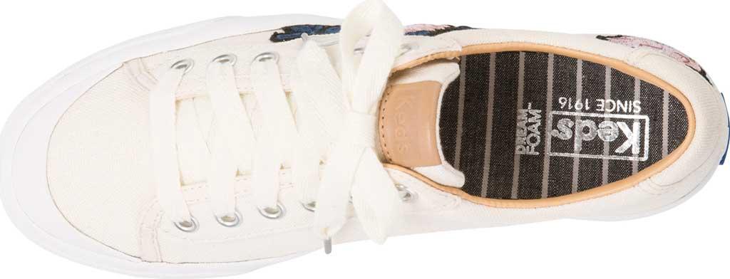 Women's Keds Crew Kick 75 Applique Sneaker, Natural Canvas, large, image 4