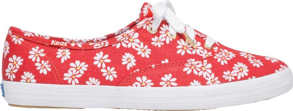 Women's Keds Champion Retro Daisy Canvas Sneaker, Red Canvas, large, image 2