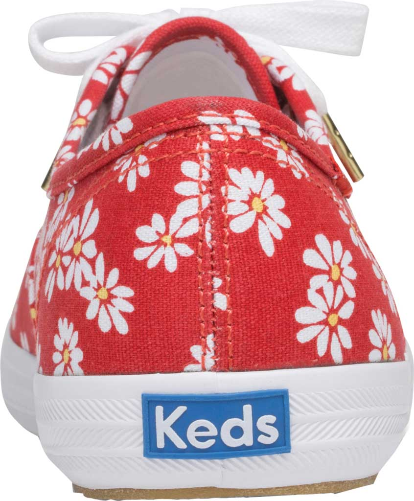 Women's Keds Champion Retro Daisy Canvas Sneaker, Red Canvas, large, image 3