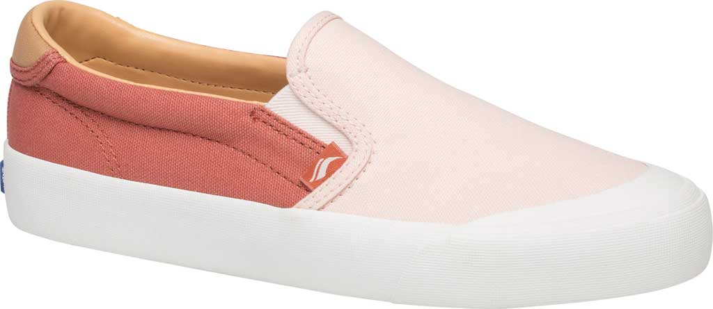 Women's Keds Crew Kick 75 Slip On Canvas Sneaker, Coral/Rose Canvas, large, image 1