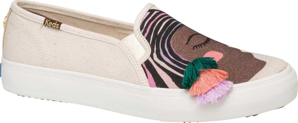 Women's Keds Jungalow Duet Double Decker Canvas Sneaker, Natural Multi Jersey/Gingham Canvas, large, image 1