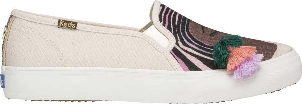 Women's Keds Jungalow Duet Double Decker Canvas Sneaker, Natural Multi Jersey/Gingham Canvas, large, image 2