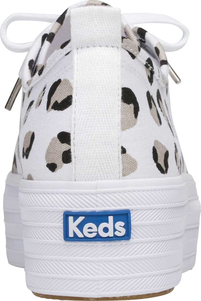 Women's Keds Triple Up Leopard Platform Sneaker, White/Black Canvas, large, image 3