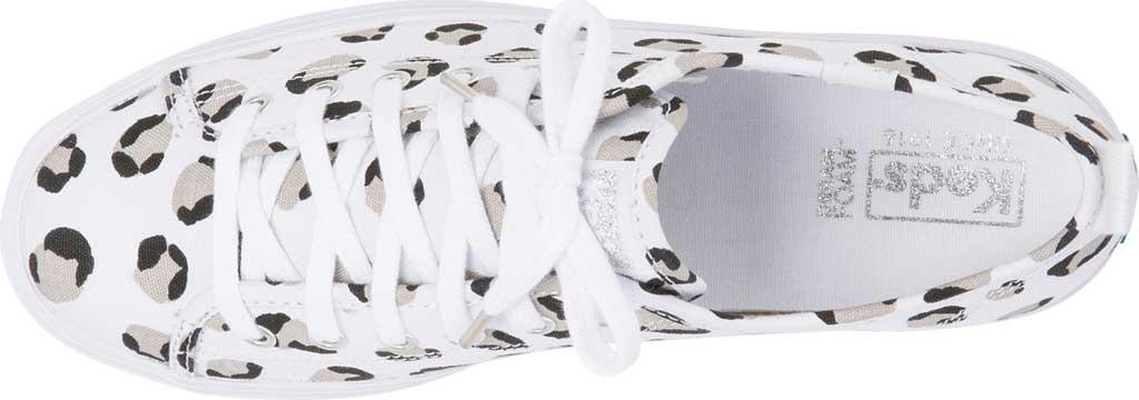 Women's Keds Triple Up Leopard Platform Sneaker, White/Black Canvas, large, image 4