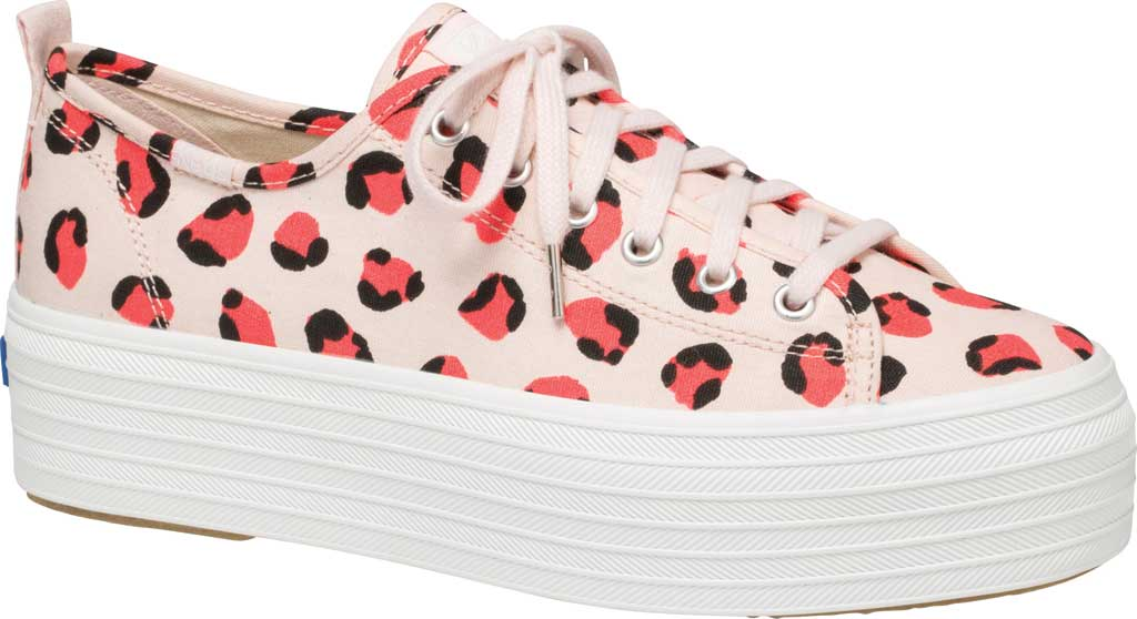 Women's Keds Triple Up Leopard Platform Sneaker, Pink Multi Canvas, large, image 1