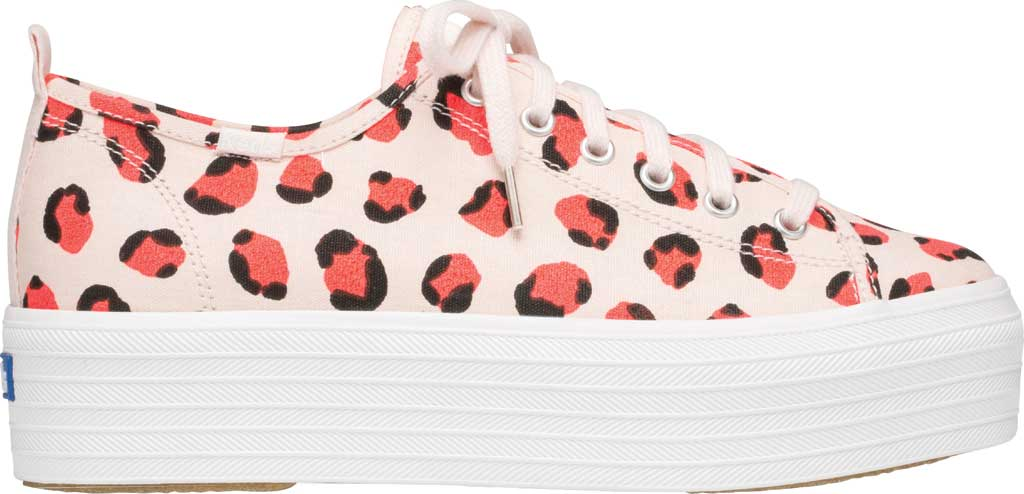 Women's Keds Triple Up Leopard Platform Sneaker, Pink Multi Canvas, large, image 2