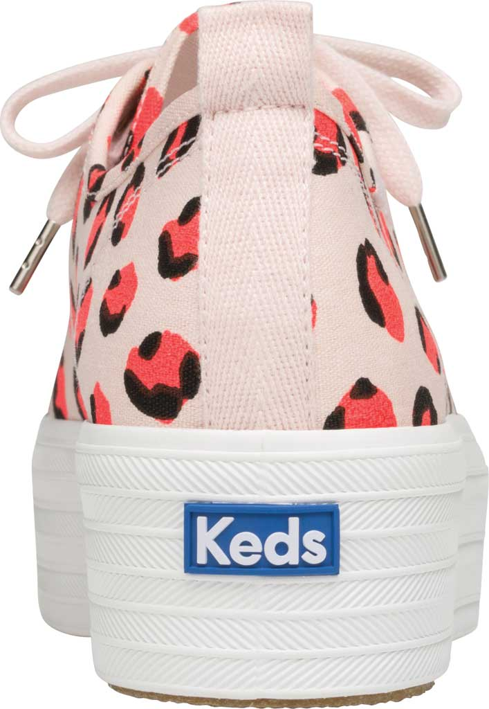 Women's Keds Triple Up Leopard Platform Sneaker, Pink Multi Canvas, large, image 3